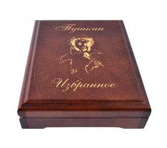 Деревянная коробка-шкатулка для книги