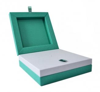 Фирменная коробка на магнитах для значка и буклета