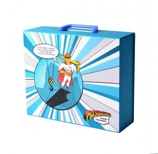 Фирменная коробка-портфель с клапаном на магните