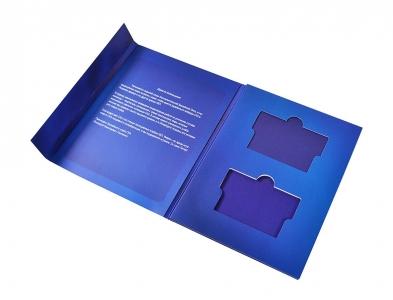 картонная упаковка на магните для флешки и карты
