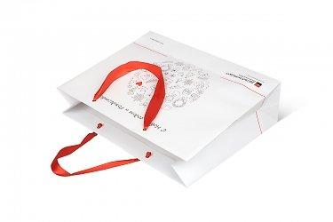 подарочная упаковка на заказ с ручками-лентами
