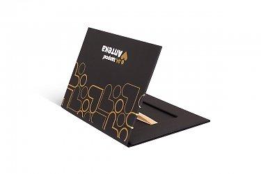 подарочная коробка для кредитной карты с лентой