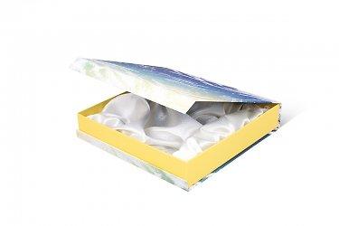 эксклюзивная упаковка подарков с драпировкой тканью