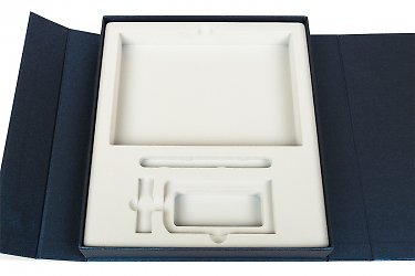 изготовление коробок с флокированным ложементом под заказ
