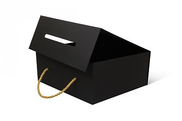 подарочная упаковка с логотипом и веревочными ручками