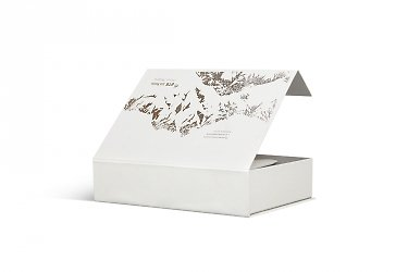 элитная упаковка коробка с клапаном на магните