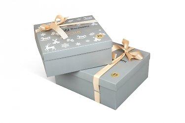 изготовление коробок с логотипом набор коробок