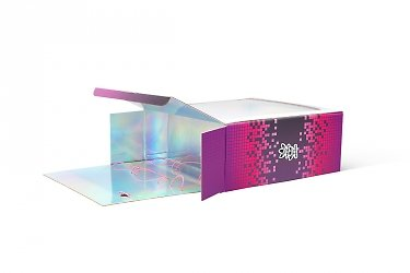 современная упаковка с голографической ламинацией