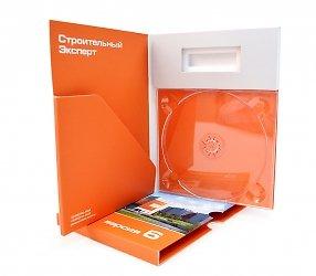 Упаковка для электронного ключа, диска и буклета