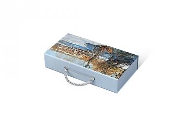 коробка с клапаном на магните изготовление