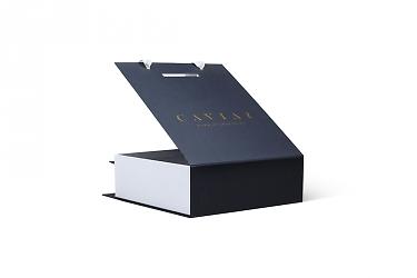 подарочная упаковка с логотипом и лентами ручками