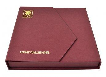 Эксклюзивная упаковка для приглашения. Универсиада в Казани