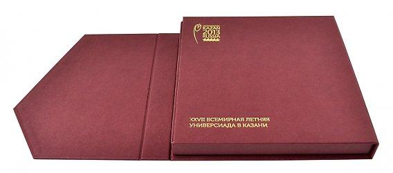 Подарочная упаковка для приглашения. Универсиада в Казани