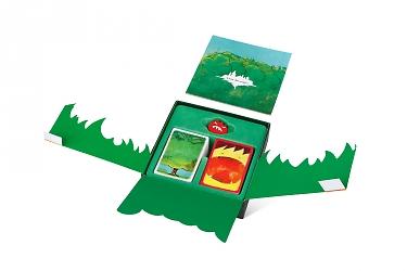 упаковка с ложементом для фиксации карточек игры