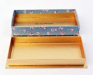 Кашированная коробка крышка-дно для конфет