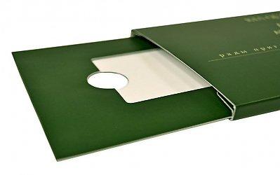 Упаковка-слайдер для пластиковой карты