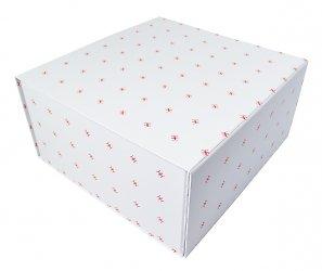 Подарочная коробка, лого повторяются и складываются в красивый узор