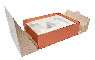 Подарочная упаковка, эксклюзивная коробка с ложементом для косметики