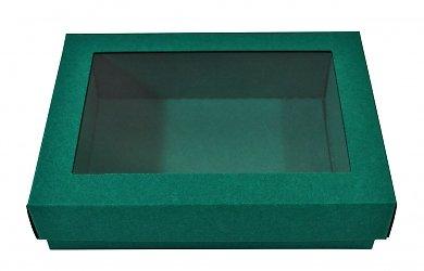 Подарочная коробка, заказать коробку крышка дно с пластиковым окошком