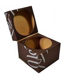 Самосборная упаковка, коробка из экологичных материалов на заказ