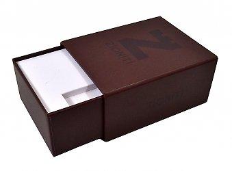 Кашированная коробка на магните с ложементом для визитки и флешки