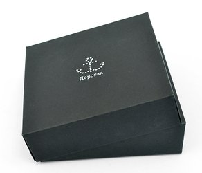 Коробка крышка-дно из дизайнерского картона