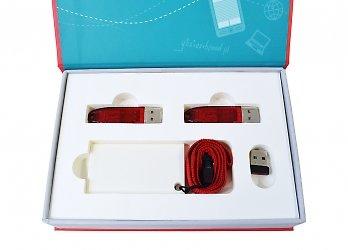 Современная упаковка с ложементом для USB-ключей