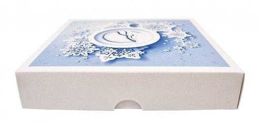 Фирменная коробка, логотип нанесен на крышку коробки