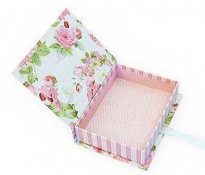 Коробка-книжка с бантом из атласной ленты