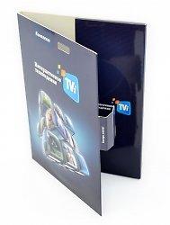 Картонная упаковка для пластиковой карты, диска и буклета