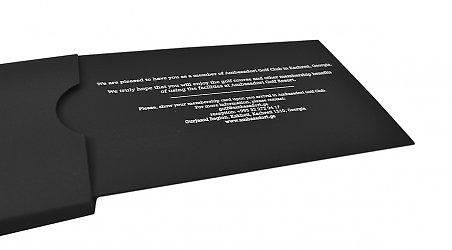 фирменная подарочная упаковка из дизайнерского картона с тиснением