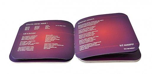 картонная упаковка для диска и буклета на заказ