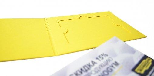 упаковка с логотипом для подарочного сертификата