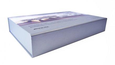 кашированная коробка с печатью на магните
