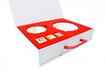 корпоративная подарочная упаковка с клапаном на магните