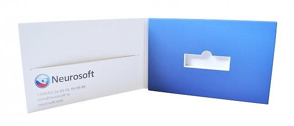 картонная упаковка для флешки и брошюры на заказ