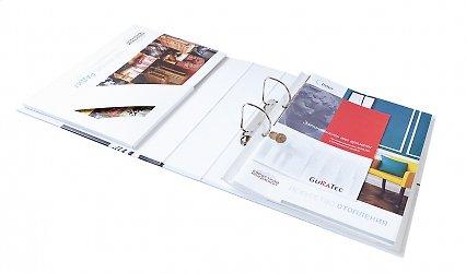 папка для фирменных буклетов с образцами продукции
