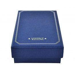 Кашированная коробка крышка-дно с атласным ложементом