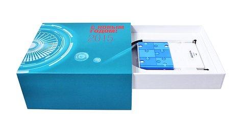 Кашированная коробка-трансформер для подарков