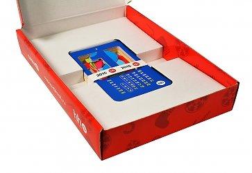 Коробки подарочные с ложементом для карточек