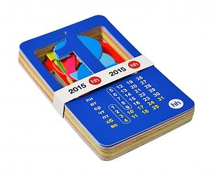 Кашированный настенный календарь в обечайке