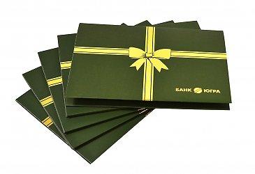Фирменная упаковка с ложементом для пластиковой карты