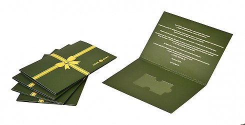 Картонная упаковка, карта укладывается в специальный ложемент