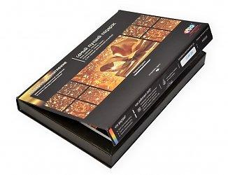 Кашированная коробка для буклета и пластиковой карты с клапаном на магните