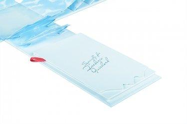 Подарочная коробка из переплетного картона с полноцветной печатью