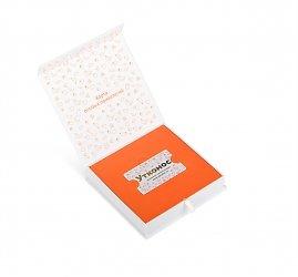 Кашированная упаковка на магните для дисконтной карты и буклета