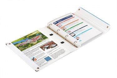 папка на кольцах для каталогов с образцами