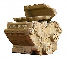 Подарочная шкатулка в форме автомобильного двигателя в Москве – производство на заказ