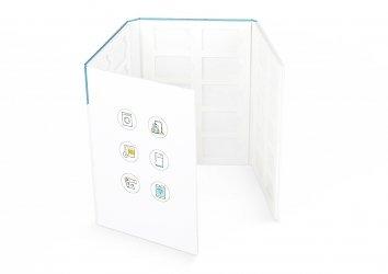 папка для образцов продукции пластика с ложементом