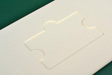 упаковка для пластиковых карт с ложементом